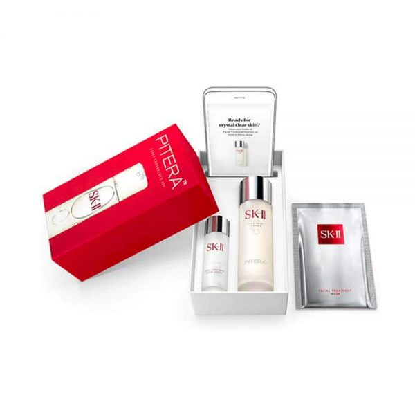 SK-II Pilera Experience Kit with Facial Treatment Essence + Clear Lotion Mask Set Made in Japan