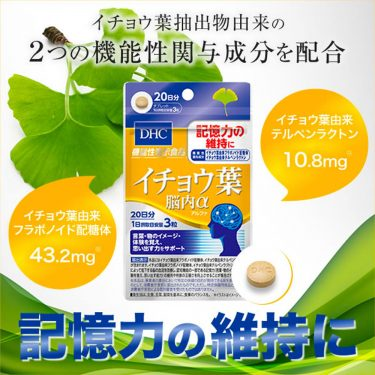 DHC Ginkgo Biloba Brain Alpha Functional Indication Food Made in Japan