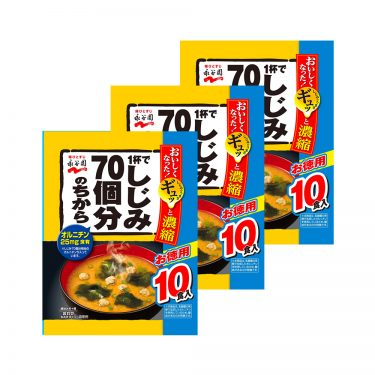 NAGATANIEN Instant Force Miso Minced Soups 70 Pieces Made in Japan