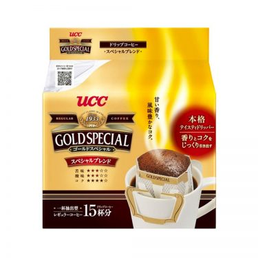 UCC Gold Special Drip Coffee Special Blend 15 Bags - Made in Japan