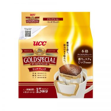 UCC Gold Special Drip Coffee Mocha Blend 15 Bags - Made in Japan