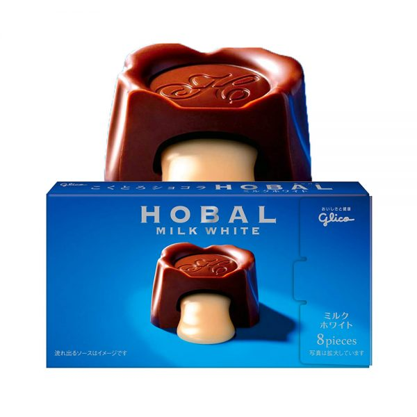 GLICO Hobal Milk White Sauce Chocolate Limited Edition Made in Japan