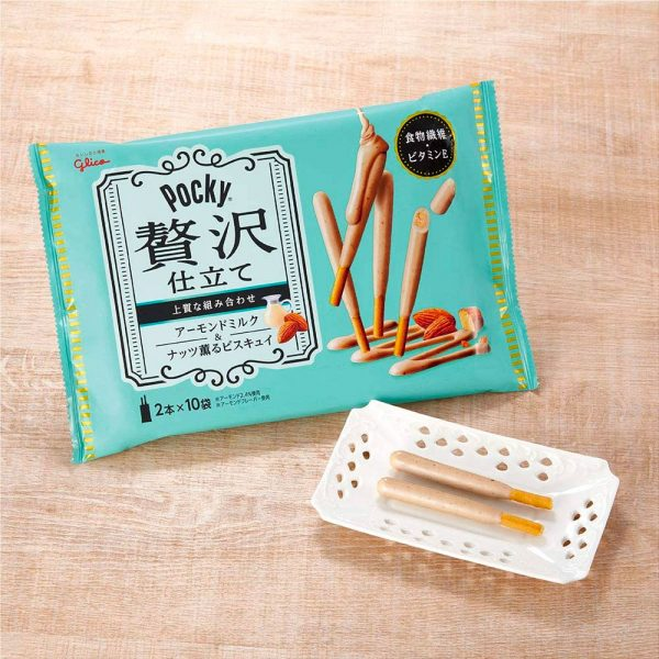 GLICO Luxury Tailoring Almond Milk Pocky Made in Japan