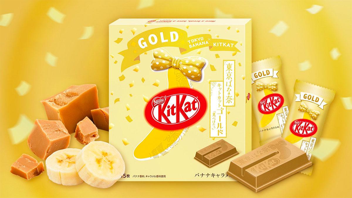 KIT KAT GOLD Tokyo Banana Caramel Flavour
