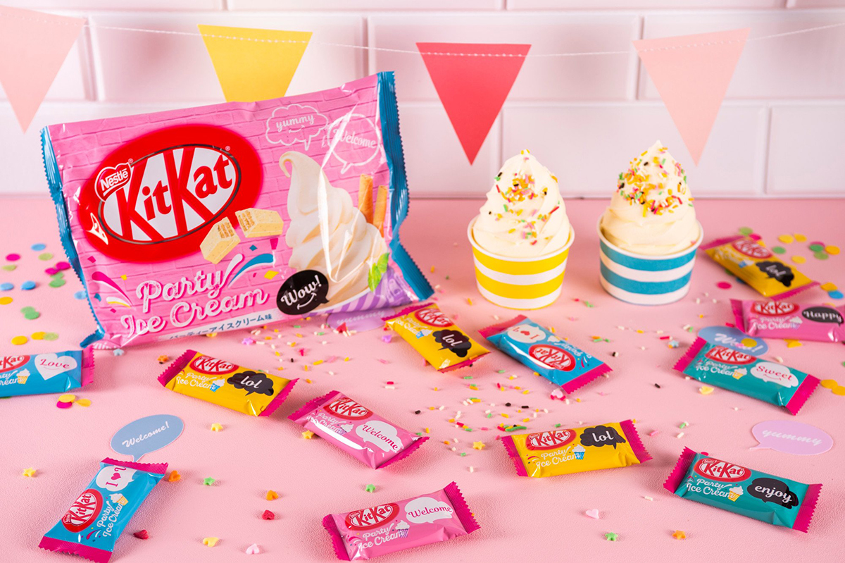 KIT KAT Party Ice Cream Made and available only in Japan