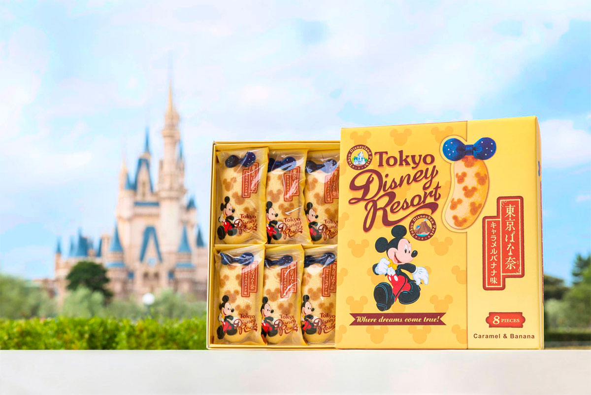 Tokyo Banana Disney Resort Caramel & Banana Made in Japan