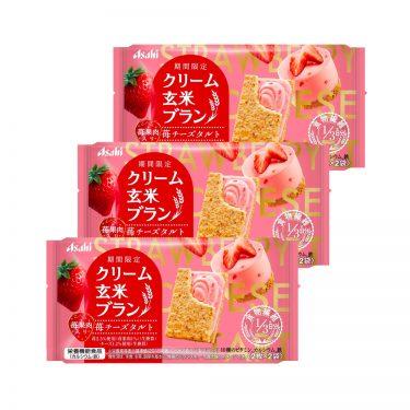 ASAHI Cream Brown Rice Blanc Strawberry Healthy Snacks Made in Japan