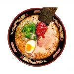 ITSUKI Black Ma Oil Tonkotsu Ramen with Straight Non-Fried Noodles