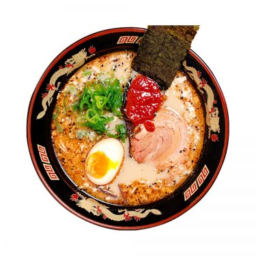 ITSUKI Black Ma Oil Tonkotsu Ramen with Straight Non-Fried Noodles