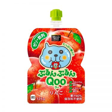 JAPAN COCA COLA Purun Purun Qoo Jelly Drink Apple Flavour Made in Japan
