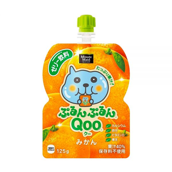 JAPAN COCA COLA Purun Purun Qoo Jelly Drink Mandarins Flavour Made in Japan