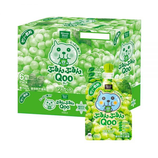 JAPAN COCA COLA Purun Purun Qoo Jelly Drink Muscat Flavour Made in Japan