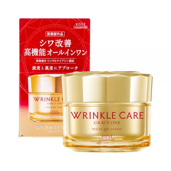 KOSE Grace All-in-One Wrinkle Care Moist Gel Moisturizing Cream Made in Japan