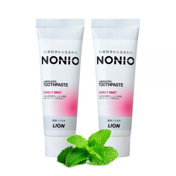 LION Nonio Medicated Toothpaste Purely Mint Made in Japan