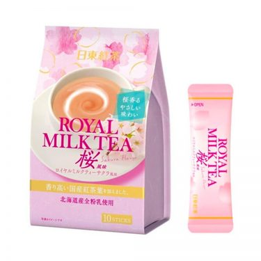 NITTOH KOCHA Royal Milk Tea Cherry Flavour Sachets Limited Edition Made in Japan