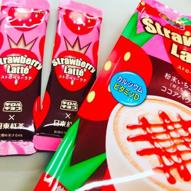 NITTOH KOCHA Tirol Chocolate x Nitto Tea Strawberry Latte Sachets Made in Japan