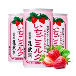 SUNTORY Strawberry Milk Nectar Cans Made in Japan