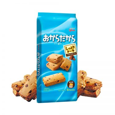 GLICO Okara Dakara Soy Pulp Chocolate Chip Cakes Made in Japan