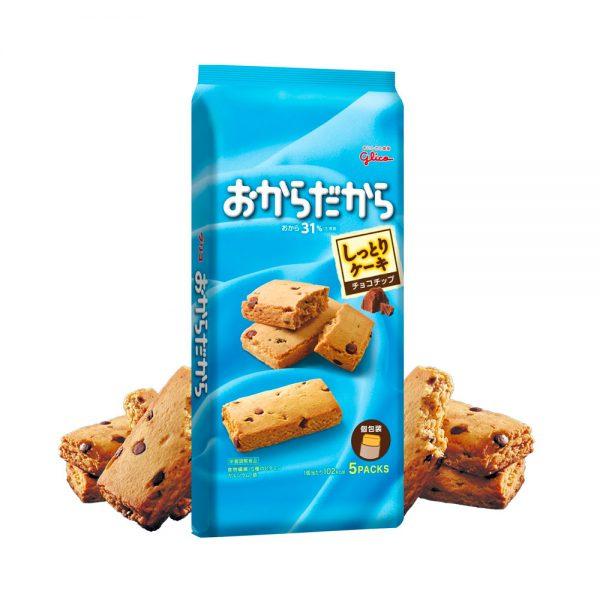 GLICO Okara Dakara Soy Pulp Chocolate Chip Cakes Made in Japan