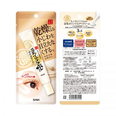 NAMERAKA HONPO Tonyu Isoflavone Wrinkle Eye Cream Made in Japan