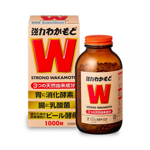 STRONG WAKAMOTO Digestive Aid Gastrointestinal Remedy Tablets Made in Japan