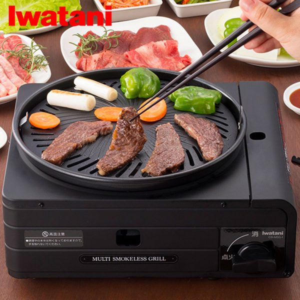 IWATANI Multi Smokeless Yakiniku Takoyaki BBQ Grill on Gas Made in Japan