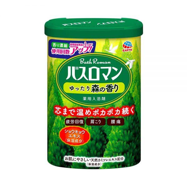 EARTH Bath Roman Bath Salts Powder Salt Loose Forest Scent Made in Japan