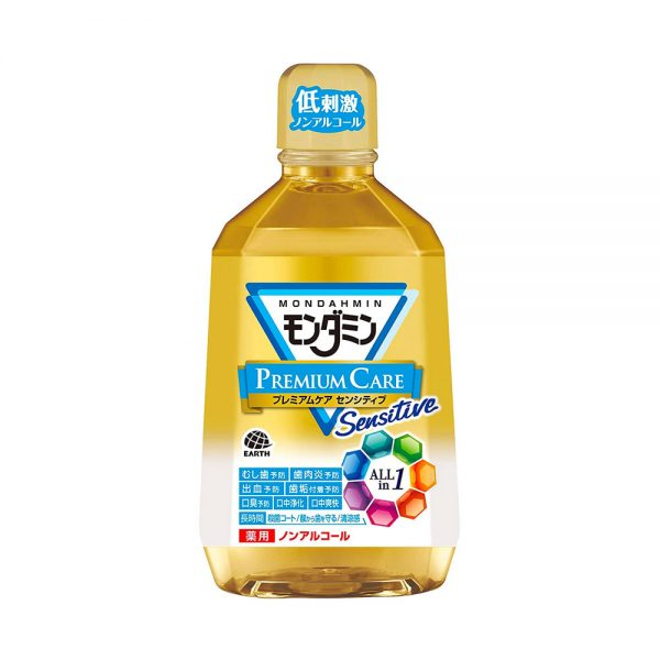EARTH Mondamine Premium Care All-in-One Mouthwash Made in Japan
