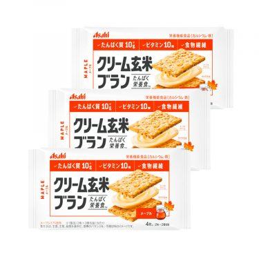 ASAHI Cream Brown Blanc maple Syrup Healthy Snacks Made in Japan