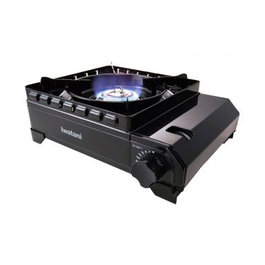 IWATANI Outdoor Portable Stove Tough Maru Black - Made in Japan
