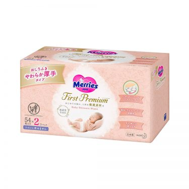 KAO First Premium Merries Wipes Soft & Thick Non Flushable Made in Japan
