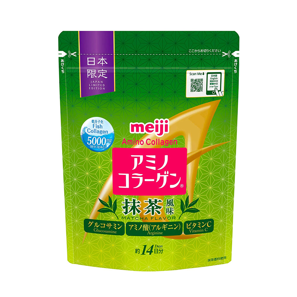 MEIJI Amino Collagen Plus Matcha Made in Japan