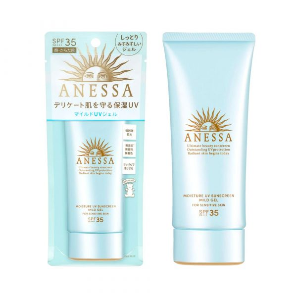 SHISEIDO New Anessa Moisture UV Mild Gel N Sunscreen Unscented Made in Japan