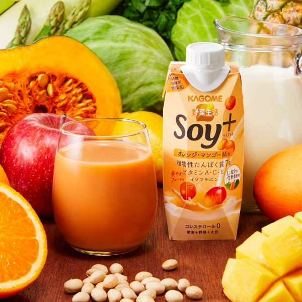 KAGOME Vegetable Life Soy Plus Orange Mango Mix Made in Japan