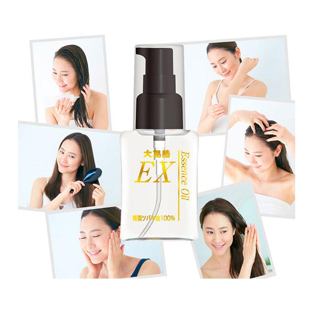 OSHIMA TSUBAKI Essence Spray 100% Pure Camellia Oil for Hair and Skin 40ml - Made in Japan