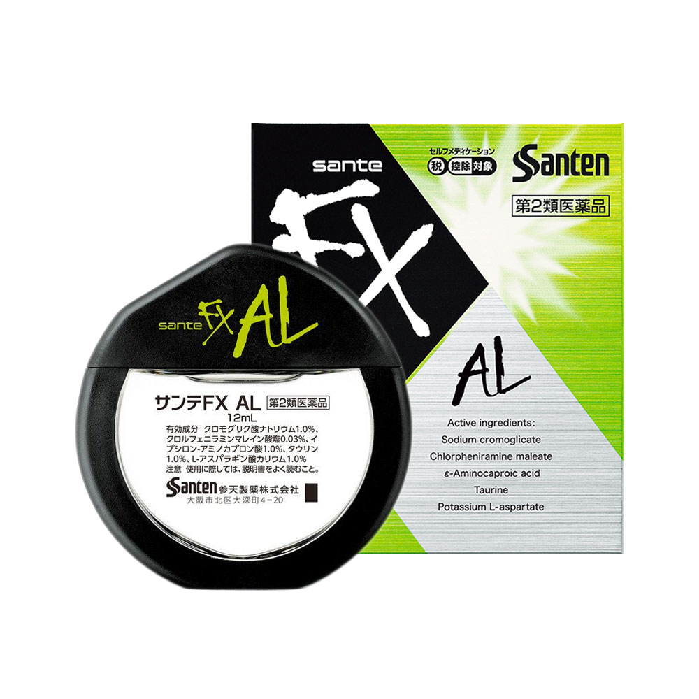 SANTEN FX Neo AL Eyedrops Clears Itching Made in Japan
